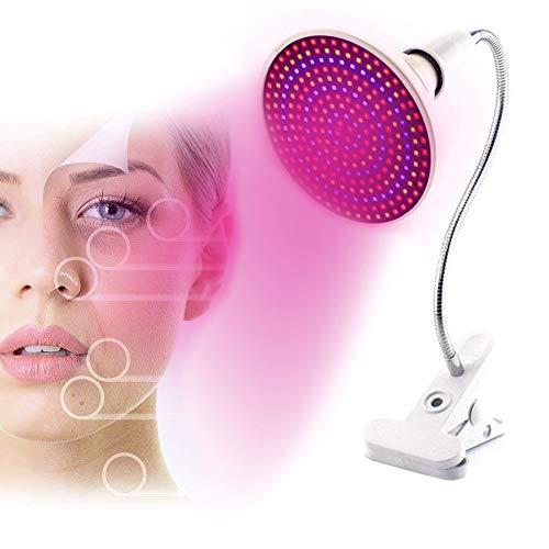 EFGSbed Rotlichtlampe Lampe, Rotlichtlampe 200 LED Infrarot Beauty, Rote 620Nm-660Nm Und Blaues Licht 430Nm-470Nm Nah Rotlicht Combo Rote Glühbirne Für Spa, Hautpflege