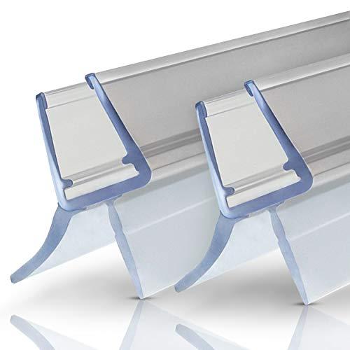 Premium Duschdichtung - 2x100cm Duschkabinen Dichtungen für Duschwände mit Glastür 6mm - 8mm Glasdicke