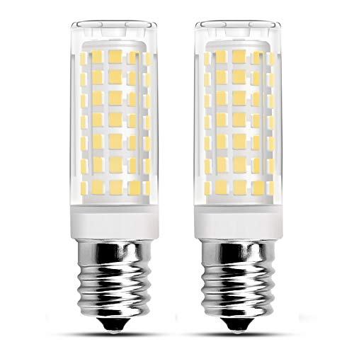RAYHOO Microwave Oven Appliance Light E17 Base LED Light Bulbs, No Flicker, 7W Equivalent to 60W Incandescent lamp, 500 Lumens, Warm White 2700K-3200K, Non-DIMMABLE, Pack of 2