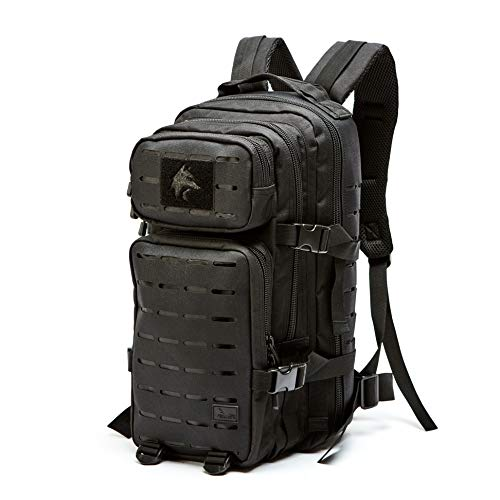 WOLF TACTICAL 24L EDC Daypack – Concealed Carry MOLLE Backpack with Gun Holster