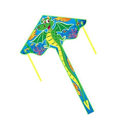 Qylfsxb kite Outdoor Fun Sports 140cm Cartoon Dragon Kite With Handle & Line Good Flying