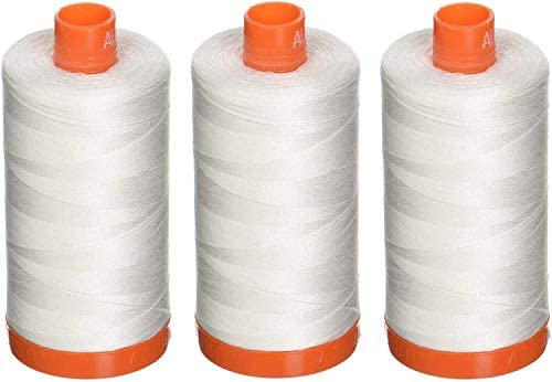Aurifil 2021 WHITE  Natural White 50 wt 1300 meters thread cotton Mako