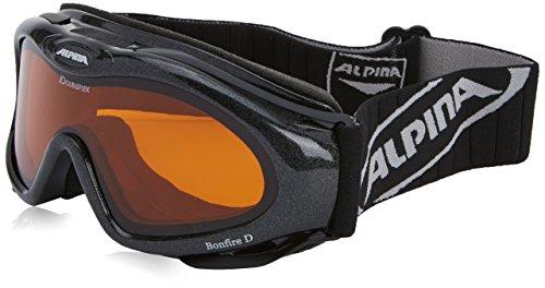 Alpina Damen Skibrille Bonfire D, schwarz dlh (black dlh), One size, A7015-133,