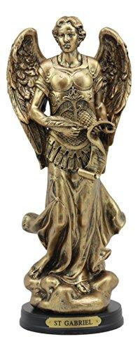 Ebros Byzantine Catholic Church Archangel Gabriel With Sacred Scroll Statue 8'Tall Saint Gabriel The Messenger Archangel Decorative Figurine