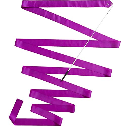 Domyos - Cinta de gimnasia Ritmica de 6 metros, color lila
