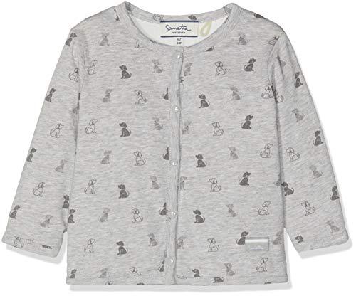 Sanetta Sanetta Unisex Baby Jacket Reversible Sweatjacke, Grau (Stone Mel. 1786), 56
