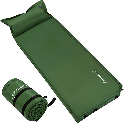 Self Inflating Sleeping Pad for Camping - 1.5 Inch Camping Pad, Lightweight Inflatable Camping Mattress Pad, Insulated Foam Sleeping Mat for Backpacking, Tent, Hammock