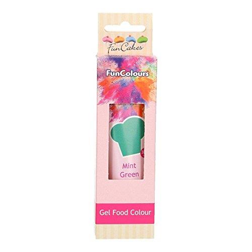 FunCakes hochwertige essbare FunColours - Lebensmittelfarbe - in Gel / Paste - verschiedene Farben - für einen einzigartigen Look (Mint, 1er) 30g