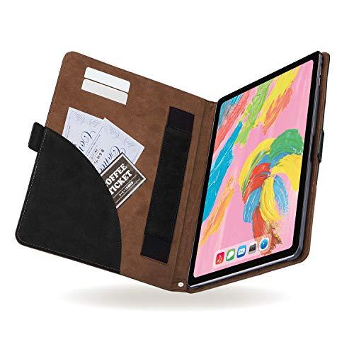 エレコム iPad Pro 11 (2018) ケース ソフトレザーカバー フリーアングル ツートン ブラック×ブラウン TB-A18MPLFDTBK