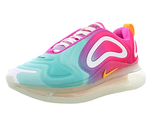 Nike Women's Air Max 720 Running Shoes (7.5, Teal Tint/University Gold/Laser Fuchsia)