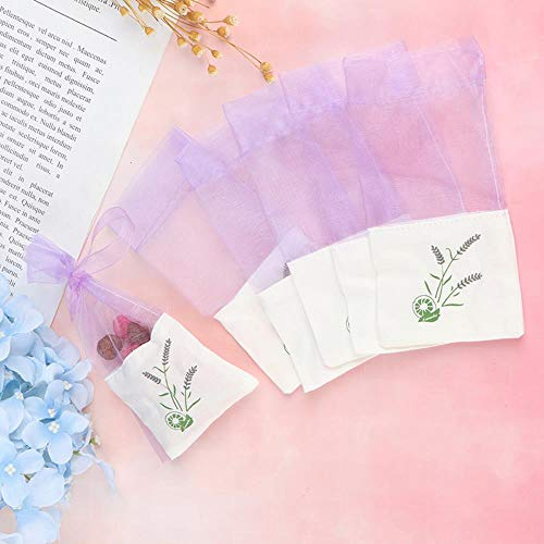 Gouen 6Pcs Sachets Flower Printing Portable Empty Lavender Fragrance Sachet Bag voor zaden