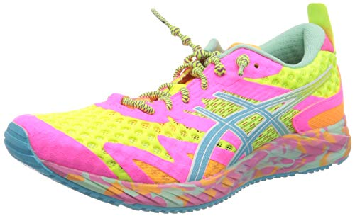 Asics Gel-Noosa Tri 12, Running Shoe Womens, Safety Yellow/Aquarium, 40.5 EU