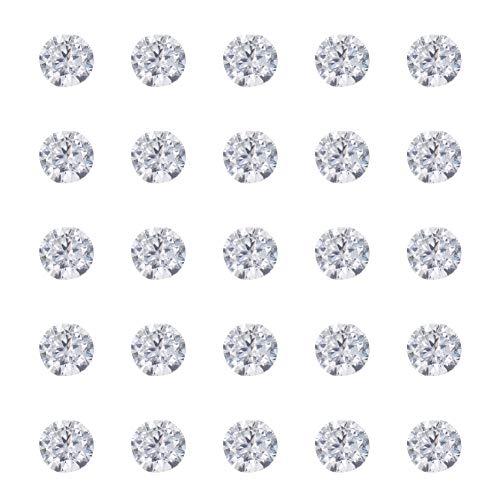 NBEADS 1000pcs Circonita Cabochons, Grado A, Facetas, Diamond, Transparente, 2mm