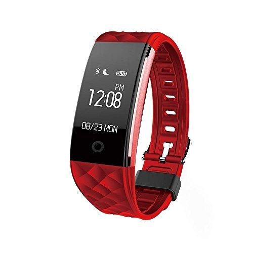 ZZY Rastreador de Fitness Reloj Inteligente HR IP67 Rastreador de Actividad Deportiva Impermeable Podómetro Ciclismo Pulsera de Calorías Llamada/SMS Recordatorio de Whatsapp para iPhone Android iOS