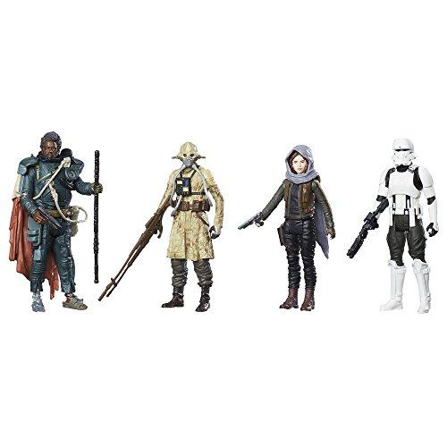 """Star Wars Confezione da 4 Action Figure, rivolta di Jedha, dal Film """"Rogue One Story"""" (Versione Inglese)"""