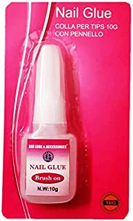 Ear Lobe & Accessories Acrylic Brush on Nail Art Glue for French False Tips and Rhinestones Manicure (10 ml)