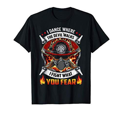 Lucho contra lo que temes BOMBEROS Regalo de bombero de resc Camiseta