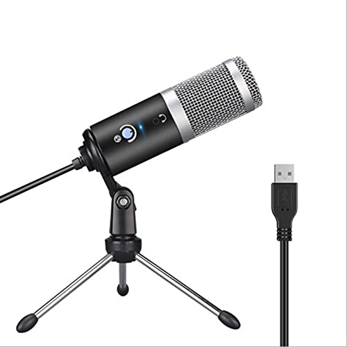 tyui Micrófono, computadora USB computadora micrófono Youtube Podcast grabación Instrumento de Rendimiento en Vivo Grupo de Voz Chat micrófono, Plug and Play