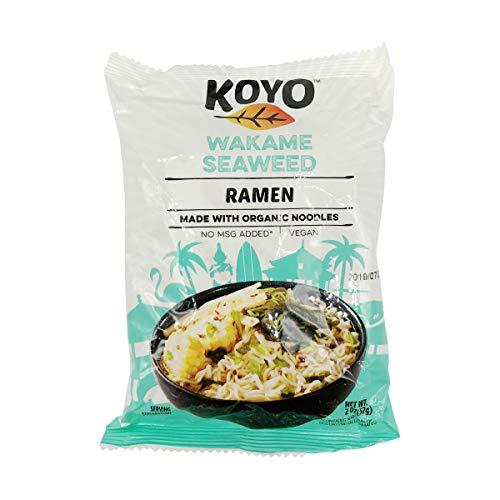 Koyo Ramen Soup, Wakame Seaweed Ramen, Made With Organic Noodles, No MSG, No Preservatives, Vegan, 2 Ounces Per Package