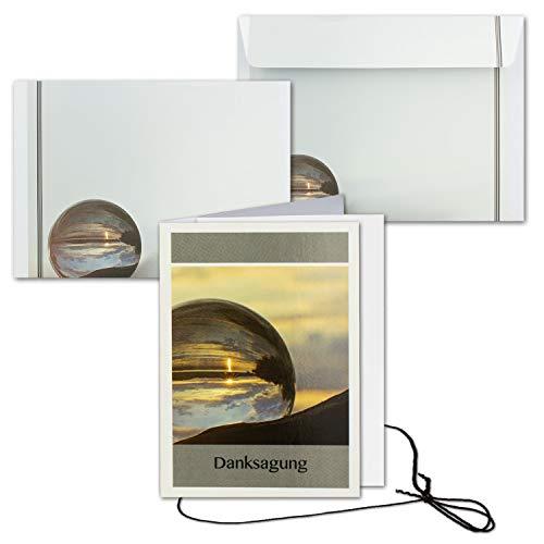 25x Trauerkarte mit Umschlag Set Danksagung - weltlich - inklusive hochwertiger Box - DIN A6 Hoch-Format - Danksagungskarten Trauerkarten nach Beerdigung - Trauer-Papiere by Gustav NEUSER