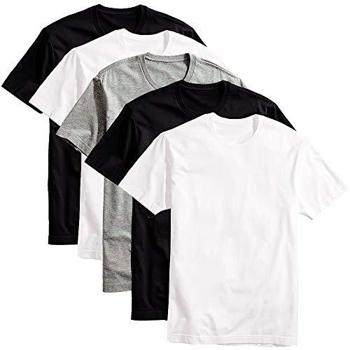 Kit com 5 Camisetas Básicas Masculina Algodão T-Shirt Tee (Colors, P)