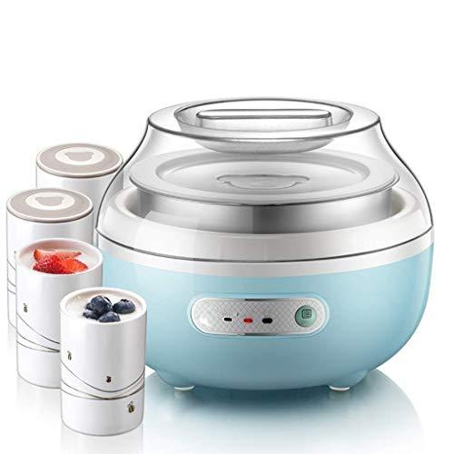 Joghurt maschinen- Küche Joghurt Maker - Die automatischen Digital-Joghurt-Hersteller-Maschine mit festgelegter Temperatur.Wiederverwendbare Glasgläser for Instant Lagerung huangcui
