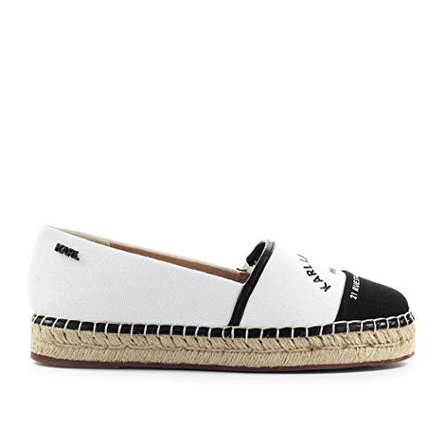 Karl Lagerfeld Luxury Fashion Damen KL80108910 Weiss Stoff Espadrilles | Frühling Sommer 20
