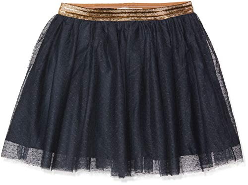 NAME IT Mädchen NKFTULLU Tulle Skirt NOOS Rock, Blau (Dark Sapphire Dark Sapphire), 110