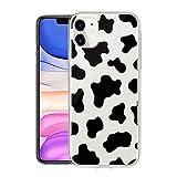 ZhuoFan Funda para iPhone 12 para iPhone 12 Pro 6.1'' Carcasa de TPU transparente Silicona Suave Animados Patrón protectora Case móvil Fundas para iPhone12 Antichoque El telefono Bumper-Patrón de vaca