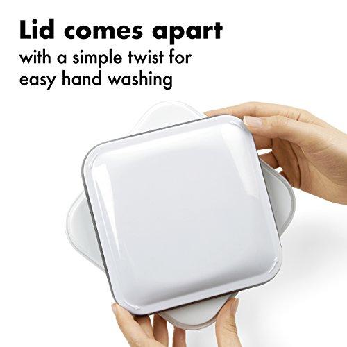 OXO 1071396 4.0 quart square Pop Container, 4 Qt - Flour