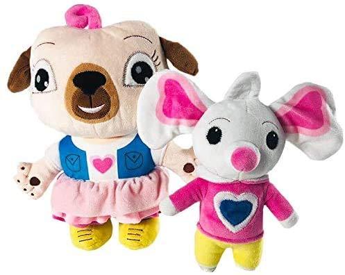 JIAL TEDS 2 UDS 17/30 cm Chip und Kartoffel Teddy Toys Cartoon Puppe Mops Hunde- und Maus Teddy Puppe Teddy Spielzeug für Kinder Geburtstagsgeschenke Chongxiang (Color : Default)