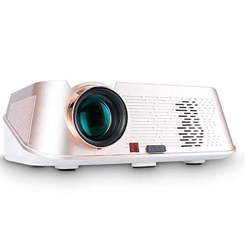 Proyector HD Proyector WiFi & plusmn;15 °, admite 1080P 200 Pulgadas, Compatible con teléfonos Inteligentes, tabletas, Palos de TV, Reproductores de DVD, proyector HD Ps3 / Ps4