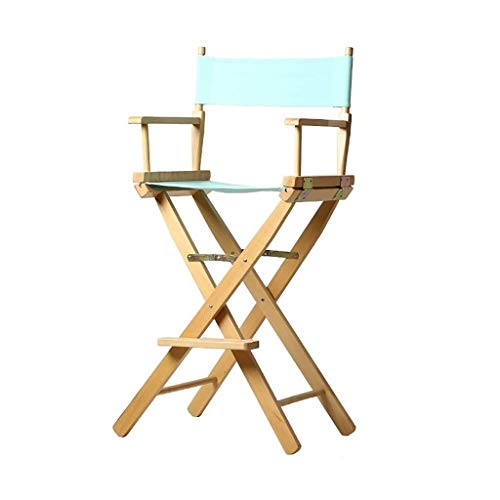 JCXOZ Actividades Viajes acampar al aire libre sillas plegables del marco de madera sólida plegable de alta Pie director Silla plegable de haya repuesto Negro lienzo conjunto de artistas de cine Direc