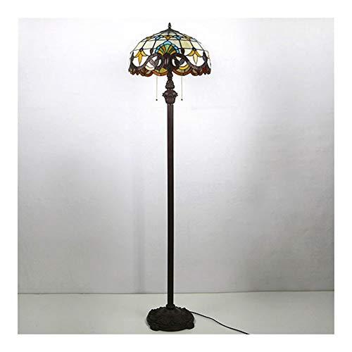 SCAYK 2 lámparas de pie de luz 16'Lámparas de Sombra para dormitorios Lámpara de Noche