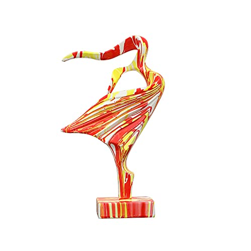 WLHER Decoración de la Estatua, Estatua Pintada de niña en el Viento, Obra de Escultura de Resina, Se Puede Colocar en la Mesa/Estante de Libros/Mesa