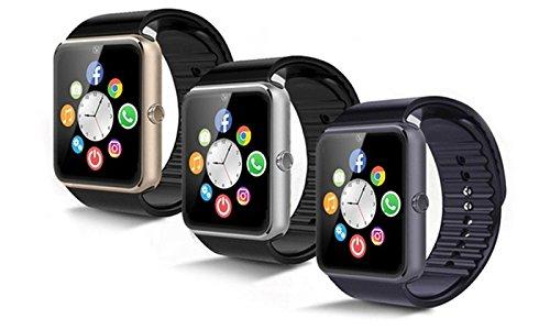 Smartwatch Multifunzione con Camera 2.0 MP e FM Radio contapassi, contatore delle kcal bruciate Touch screen Bluetooth Android IOs Telefono con SIM Card