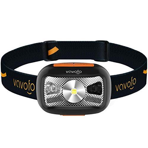VAVOFO ヘッドライト USB充電式 LEDライト IPX6防水 超軽量 角度調整可 防災 登山 夜釣り 作業 キャンプ 散歩 アウトドア用 センサー機能付き