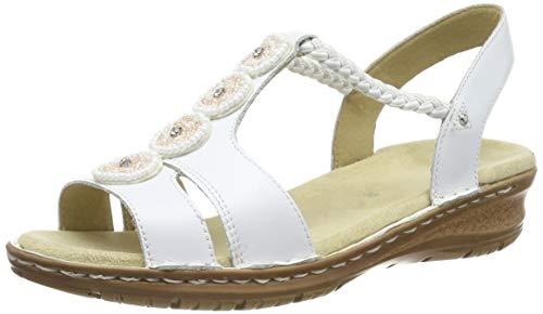 ARA Damen Hawaii 1227217 T-Spangen Sandalen, Weiß (Weiss 77), 39 EU