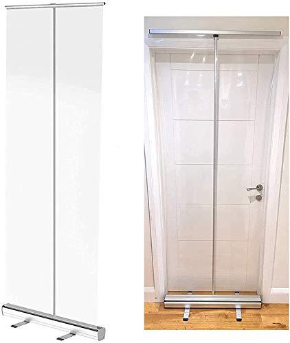 MUZIDP Barrera portátil de plástico transparente para piso, para oficina, tiendas, restaurante, aula, gimnasio, protección contra escupir para mostrador y escritorio