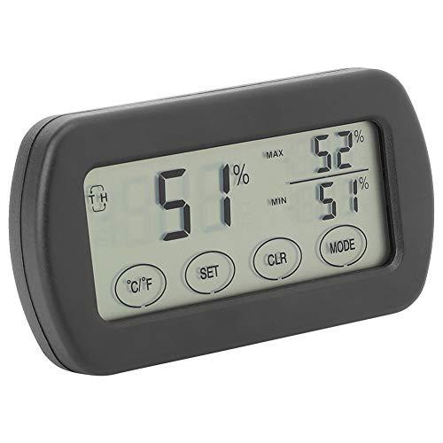 SALUTUY Medidores de Humedad y Temperatura Medidor, higrómetro Pantalla LCD Resistente y Duradera para humidores Invernadero Jardín Bodega Armario para frigorífico para Interiores y Exteriores