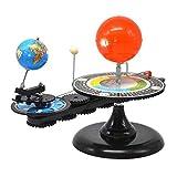 Interesante Three-Sphere Instrument Popular Science Toy Regalo Sol, Tierra y Luna Operación Instrumento Ciencia y Tecnología Museo Total Sol y Luna Eclipse Instrumento astronómico para niños Interacci