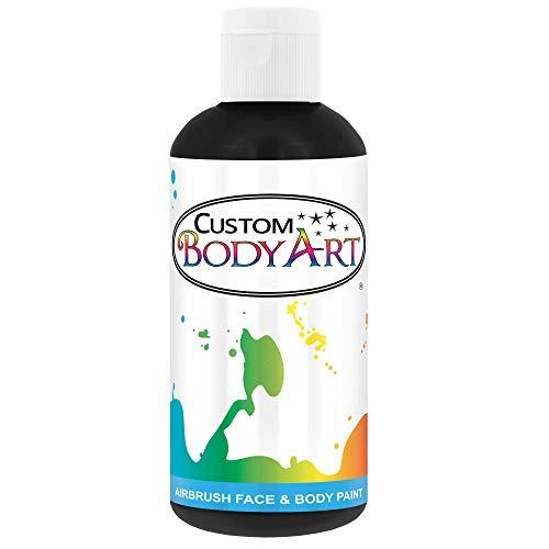 Custom Body Art 8-Ounce Black Water Based Airbrush Body Art & Face Paint