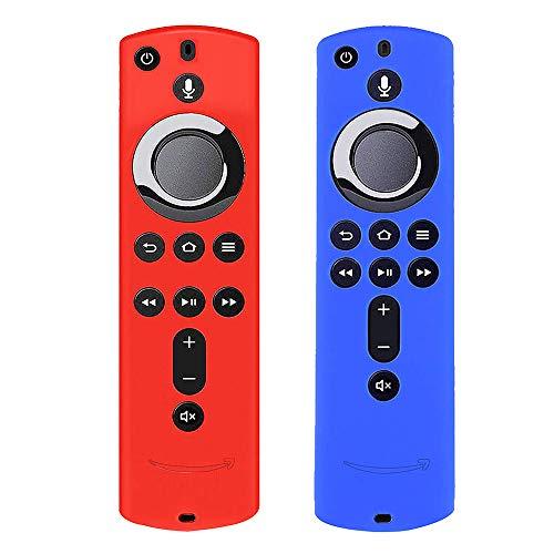 Silikon-Schutzhülle für TV Stick 4K / TV (3. Generation), kompatibel mit Fernbedienung der 2. Generation (Rot & Blau), 2 Stück