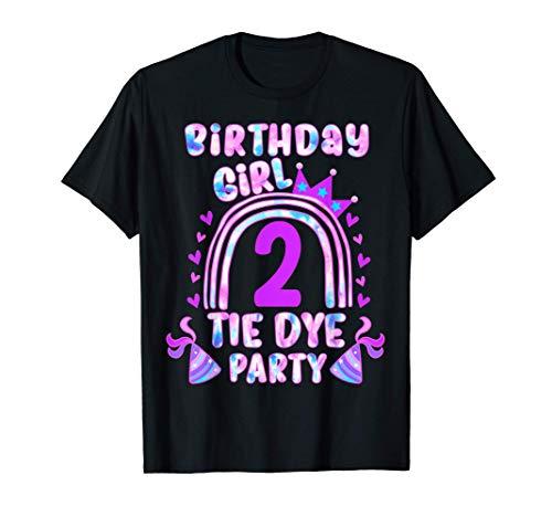 Regalo de 2 años para niños Tie Dye Fiesta Cumpleaños Hippie Camiseta