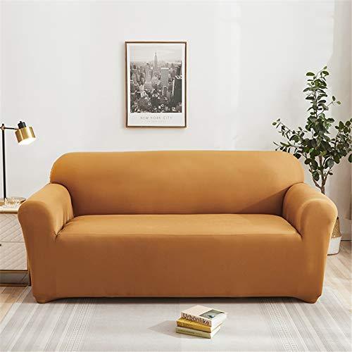 Funda Protectora Elástica para Sofá Funda De Sofá Antideslizante De Color Sólido Opcional Multicolor El Sofá En Forma De L Requiere 2 Fundas De Sofá 4 Seater (230-300 cm)