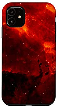 iPhone 11 Galaxy Red Orange Cool Milky Way Stars Space Lover Gift Case