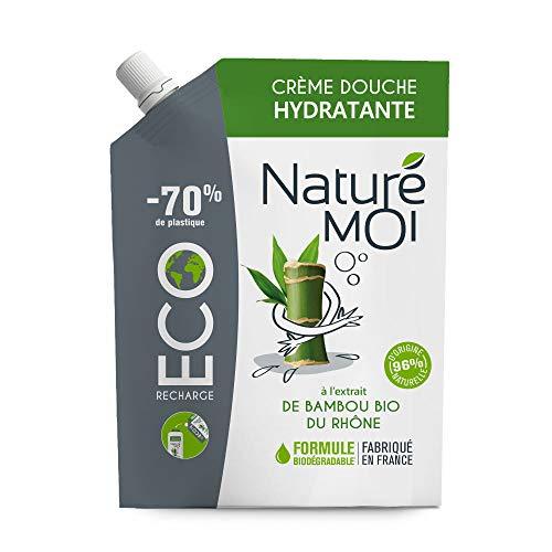 Naturé Moi - Eco recharge crème douche hydratante à l'extrait de bambou bio du Rhône - Hydrate et nourrit les peaux normales à sèches - 400 ml