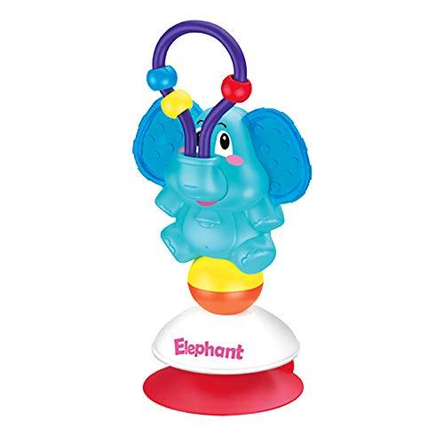 CestMall saugnapf hochstuhl spielzeug, baby-geklapper beißring shaker grab and spin rattle rotating glocke rattles griff spielen spielzeug frühe lernspielzeug 3 monate +