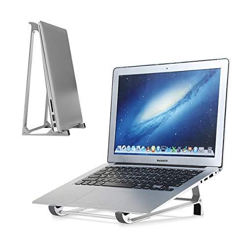 "BIUBLE Laptop Stand, Portable Laptop Cooling Desk Holder,Stable Aluminum Laptop Stand with Anti-Slip Silicone Pad for Laptop, Notebook, MacBook, HP, Lenovo, Sony, Dell, More 10-15.6"" Laptops, Tablet"