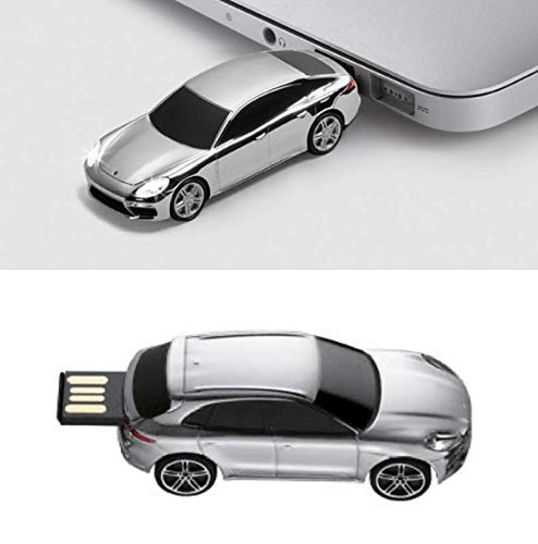 Unbekannt Porsche Driver's Selection USB-Stick 8 GB - Panamera Turbo G2 Silber  NUR Hier + Extra Schlüsselring Mit Schraubverschlusss   Set
